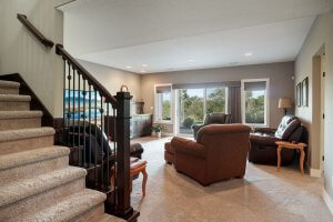 Lower level family room with walk out.