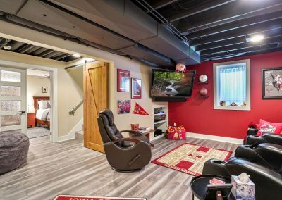 Lower level man cave remodel